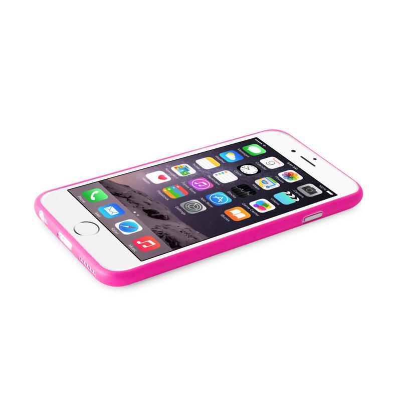 "PURO Ultra Slim ""0.3"" Cover - Zestaw etui + folia na ekran iPhone 6s Plus / iPhone 6 Plus (różowy)"