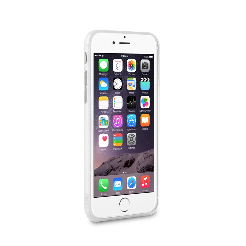 """PURO Ultra Slim """"0.3"""" Cover - Zestaw etui + folia na ekran iPhone 6s Plus / iPhone 6 Plus (półprzezroczysty)"""