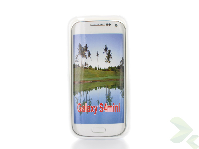 Geffy - Etui Samsung Galaxy S4 Mini TPU dual clear white