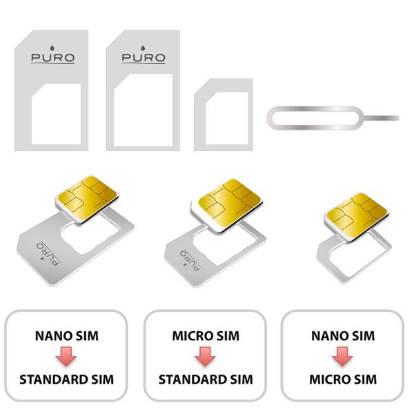 PURO Nano/Micro SIM Adapter - Adapter do karty