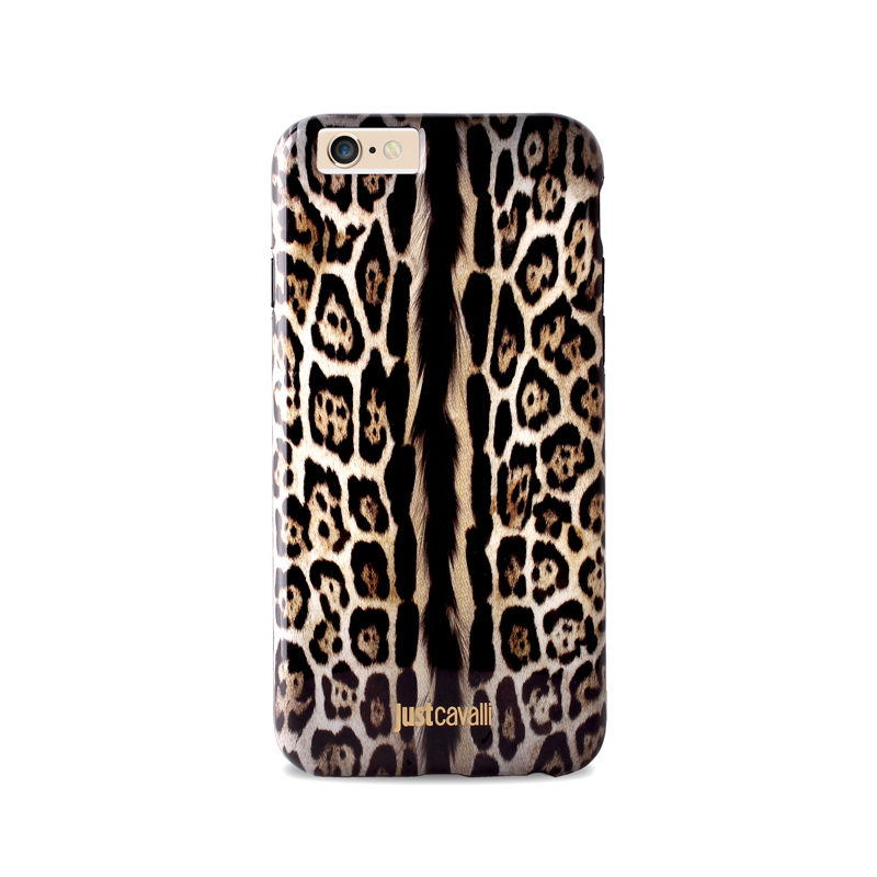 JUST CAVALLI Leopard Cover - Etui iPhone 6s / iPhone 6 (brązowy)
