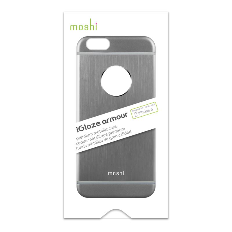 Moshi iGlaze Armour - Etui aluminiowe iPhone 6s / iPhone 6 (Space Grey)