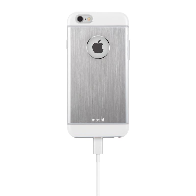 Moshi iGlaze Armour - Etui aluminiowe iPhone 6s / iPhone 6 (Silver)