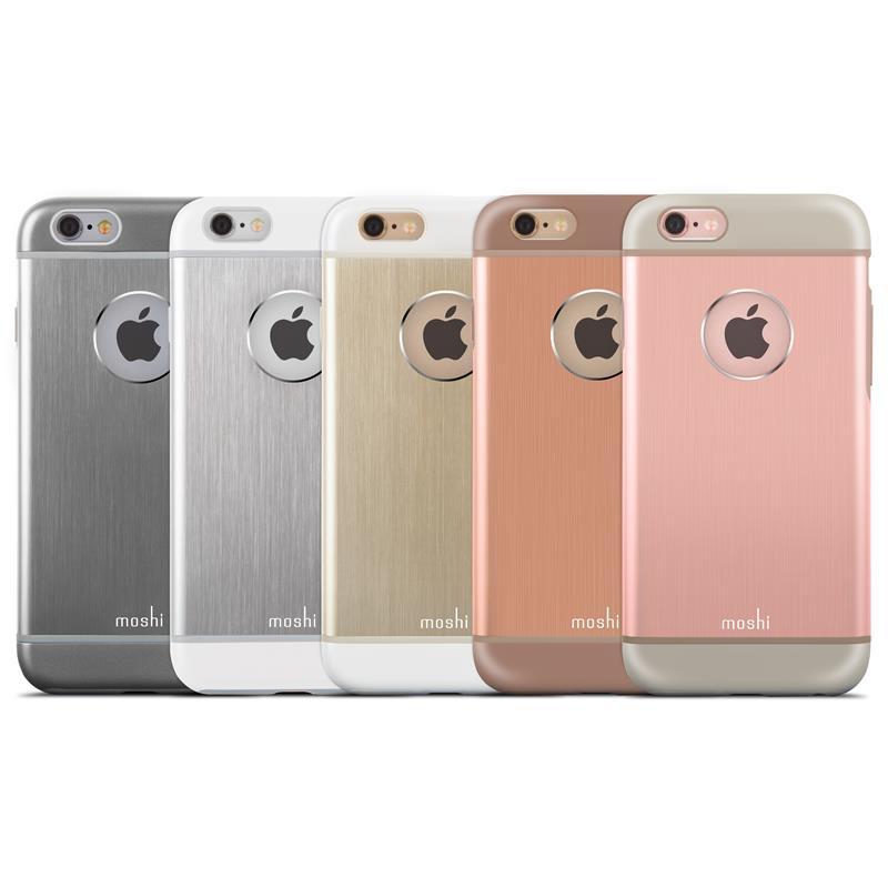 Moshi iGlaze Armour - Etui aluminiowe iPhone 6s / iPhone 6 (Gold)