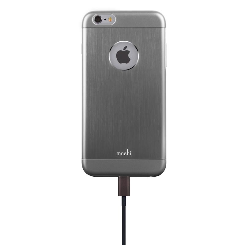 Moshi iGlaze Armour - Etui aluminiowe iPhone 6s Plus / iPhone 6 Plus (Space Grey)