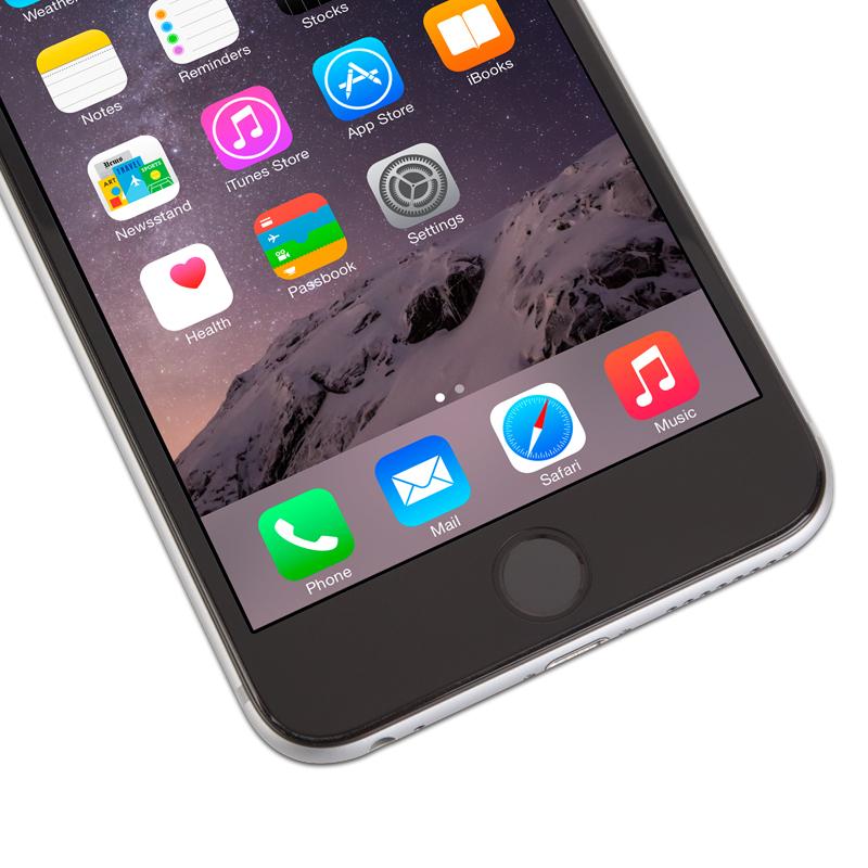 Moshi iVisor Glass - Szkło ochronne IonGlass na ekran do iPhone 6s Plus / iPhone 6 Plus (czarna ramka)