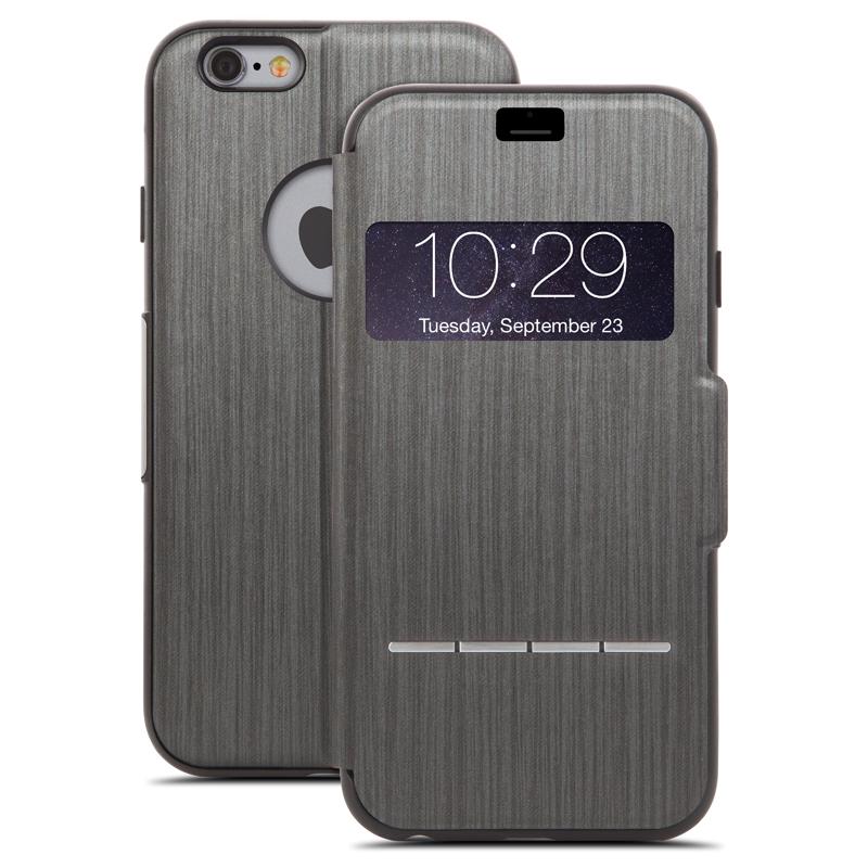 Moshi SenseCover - Etui z klapką dotykową iPhone 6s / iPhone 6 (czarny)