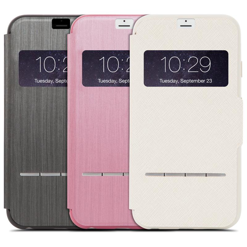 Moshi SenseCover - Etui z klapką dotykową iPhone 6s Plus / iPhone 6 Plus (różowy)