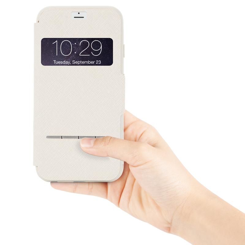 Moshi SenseCover - Etui z klapką dotykową iPhone 6s Plus / iPhone 6 Plus (piaskowy)