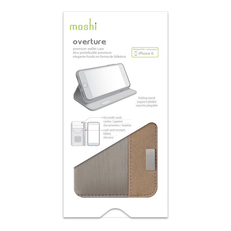 Moshi Overture - Etui iPhone 6s / iPhone 6 (Titanium)