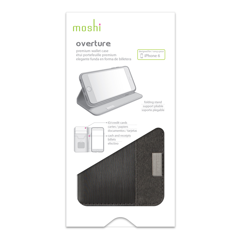 Moshi Overture - Etui iPhone 6s Plus / iPhone 6 Plus (czarny)