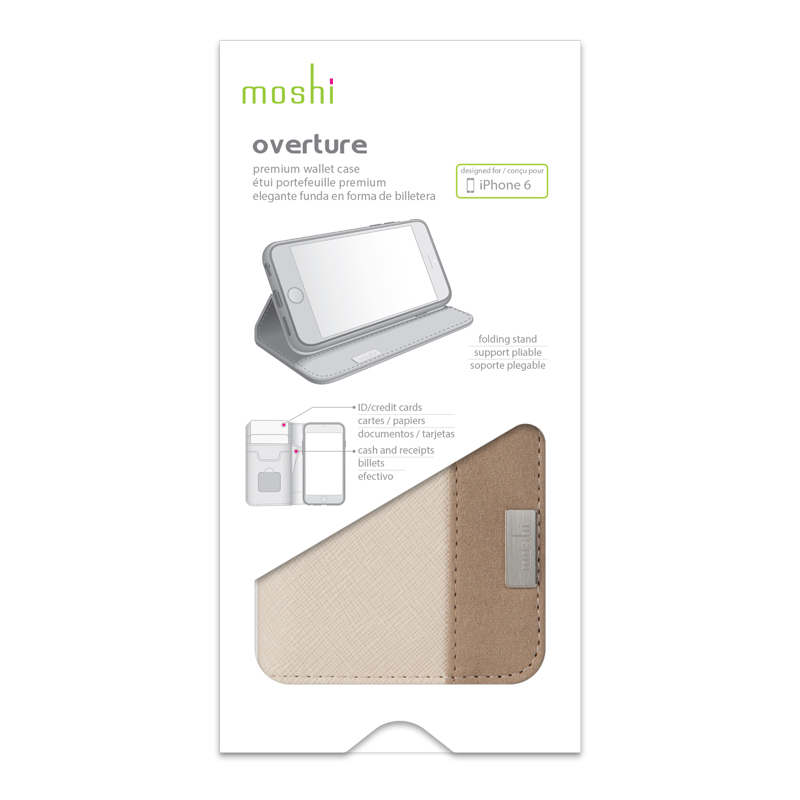 Moshi Overture - Etui iPhone 6s Plus / iPhone 6 Plus (beżowy)