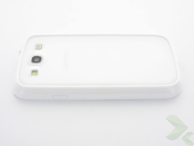Geffy - Etui Samsung Galaxy S III TPU dual clear white
