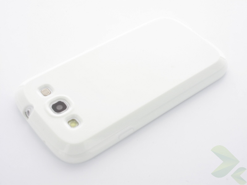 Geffy - Etui Samsung Galaxy S III TPU solid color white