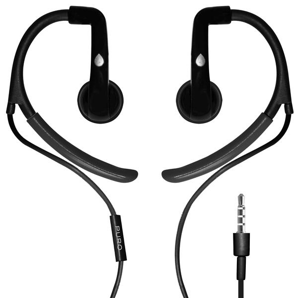 PURO Sport Stereo Earphones - Słuchawki sportowe (czarny)