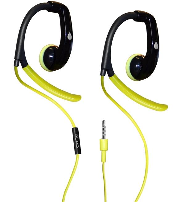 PURO Sport Stereo Earphones - Słuchawki sportowe (limonkowy)