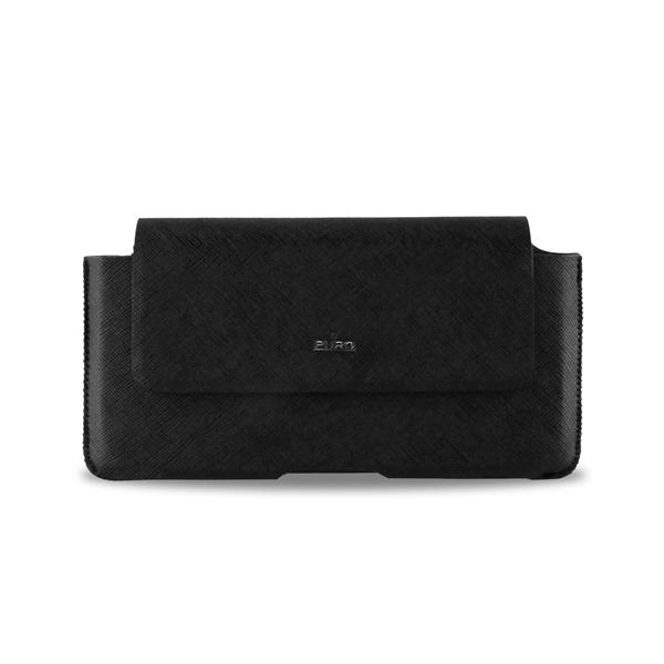 PURO Belt Case - Etui kabura uniwersalna do smartfonów rozmiar L (czarny)
