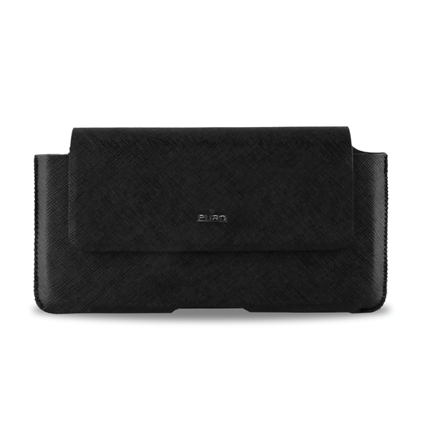 PURO Belt Case - Etui kabura uniwersalna do smartfonów rozmiar XL (czarny)