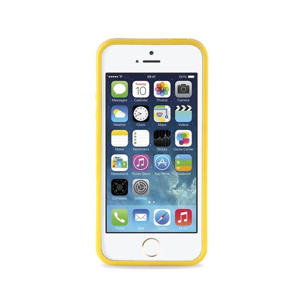 JUST CAVALLI Leopard Flower - Etui iPhone SE / iPhone 5s / iPhone 5 + tapeta QR (żółty)