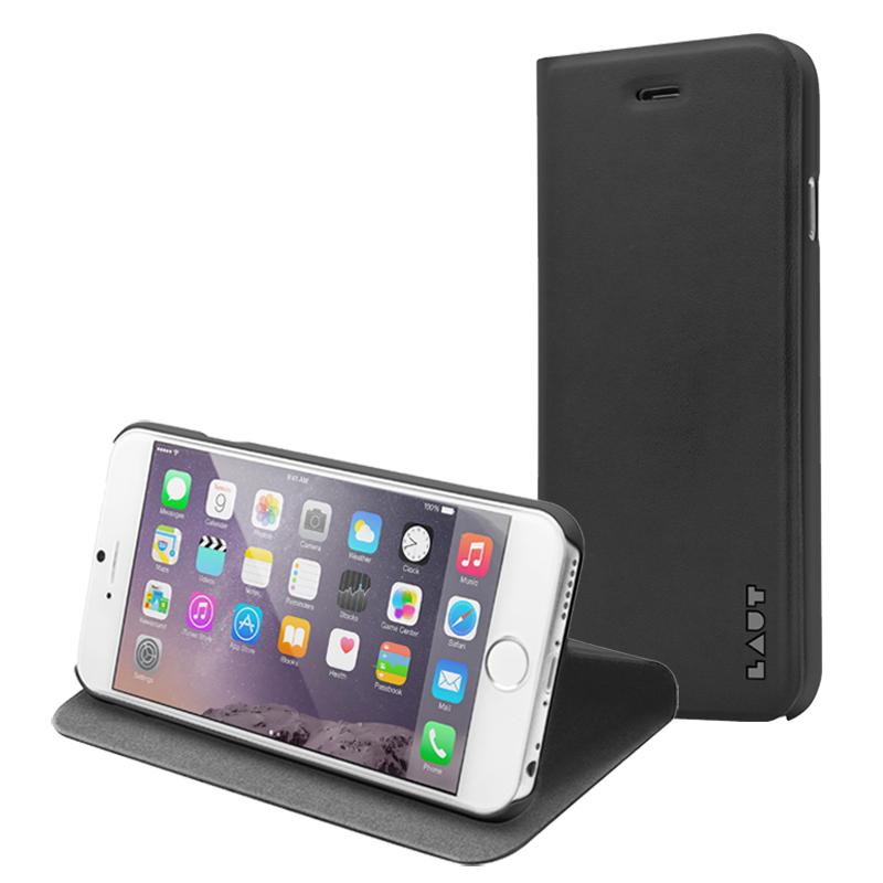 Laut APEX - Etui iPhone 6s Plus / iPhone 6 Plus z kieszenią na kartę + stand up + 2 x folia na ekran w zestawie (czarny)