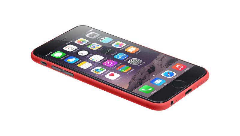 Laut SLIMSKIN - Etui iPhone 6s Plus / iPhone 6 Plus z 2 foliami na ekran w zestawie (czerwony)
