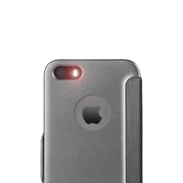 Moshi SenseCover - Etui z klapką dotykową iPhone SE / iPhone 5s / iPhone 5 + folia ochronna na tył (stalowy)