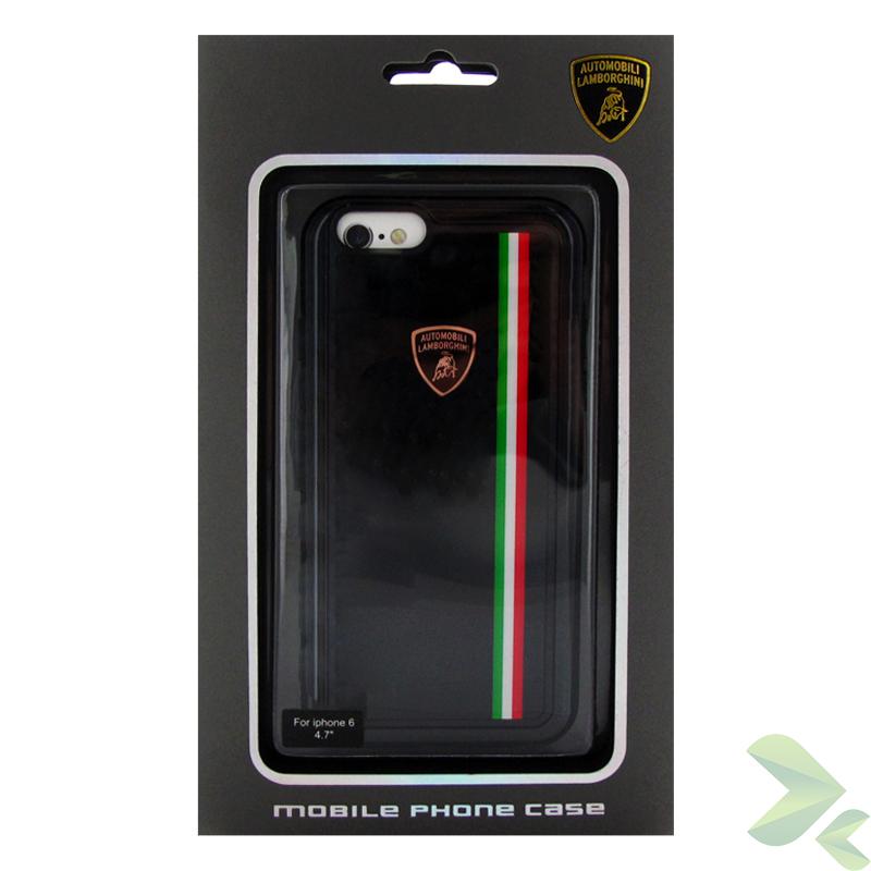 Lamborghini Tricolor Hardcase - Etui iPhone 6s / iPhone 6 (czarny)