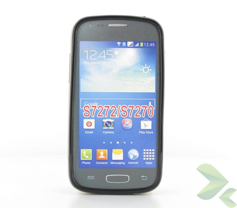 Geffy - Etui Samsung Galaxy Ace 3 S7270 TPU solid color black