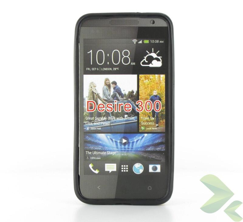 Geffy - Etui HTC Desire 300 TPU solid color black