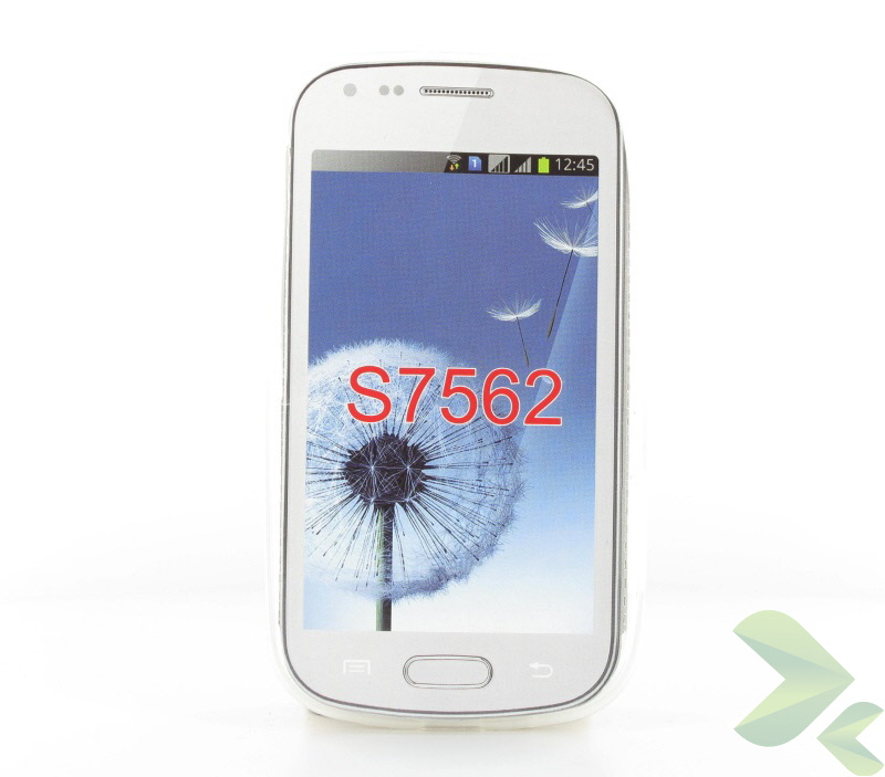Geffy - Etui Samsung Galaxy Trend S7560 TPU mat clear