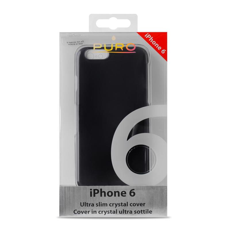 PURO Crystal Cover - Etui iPhone 6s / iPhone 6 (czarny przezroczysty)