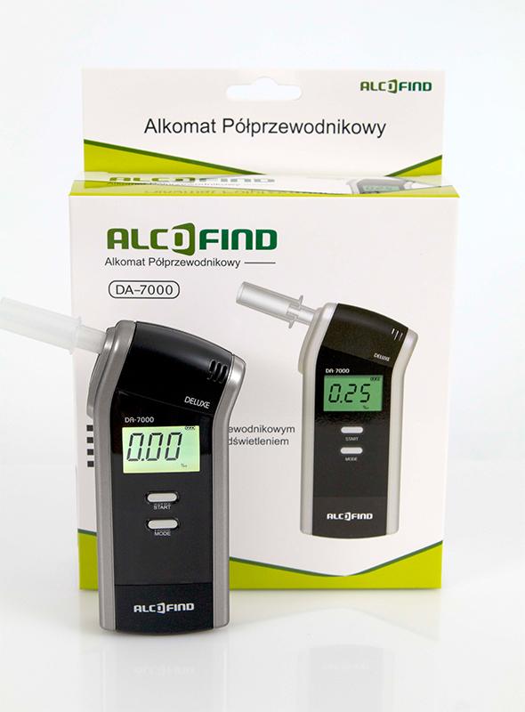 AlcoFind DA-7000 - Alkomat Półprzewodnikowy + latarka LED