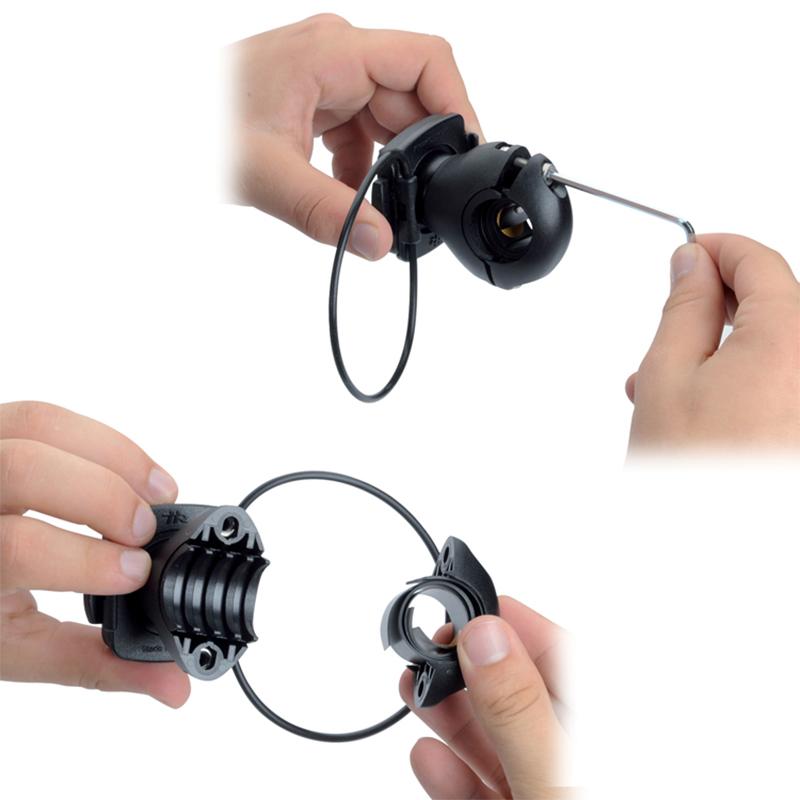 iGrip Universal Biker Kit - Uniwersalny uchwyt rowerowy do smartfonów o szer. 44 - 84 mm