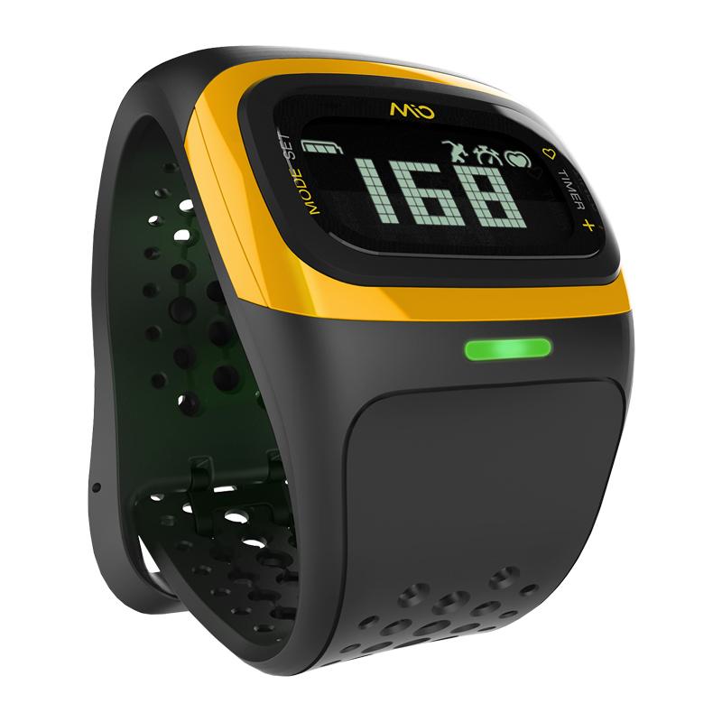 Mio ALPHA 2 - Pulsometr nadgarstkowy Bluetooth Smart wodoszczelny (żółty)