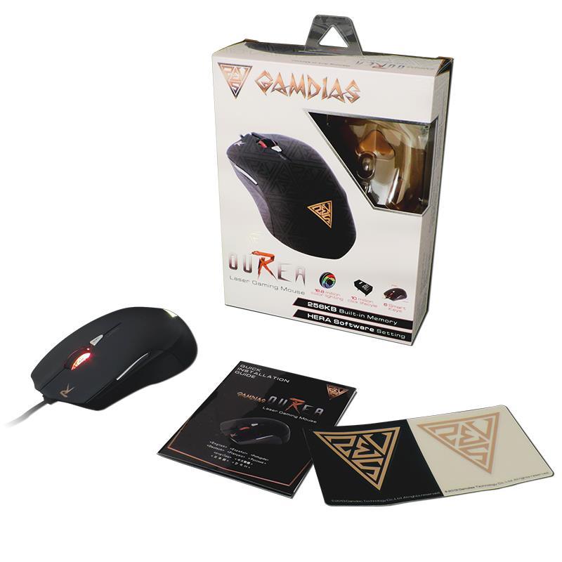 Gamdias Ourea Laser - Mysz dla graczy (3600 DPI)