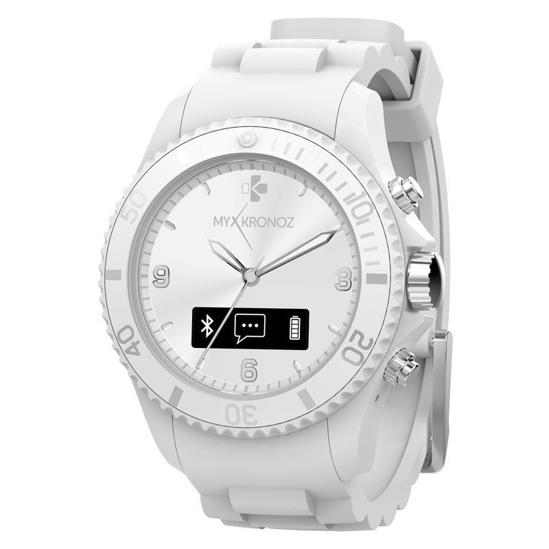 MyKronoz ZeClock - Analogowy Smartwatch Bluetooth 4.0 + monitor aktywności fizycznej (biały)