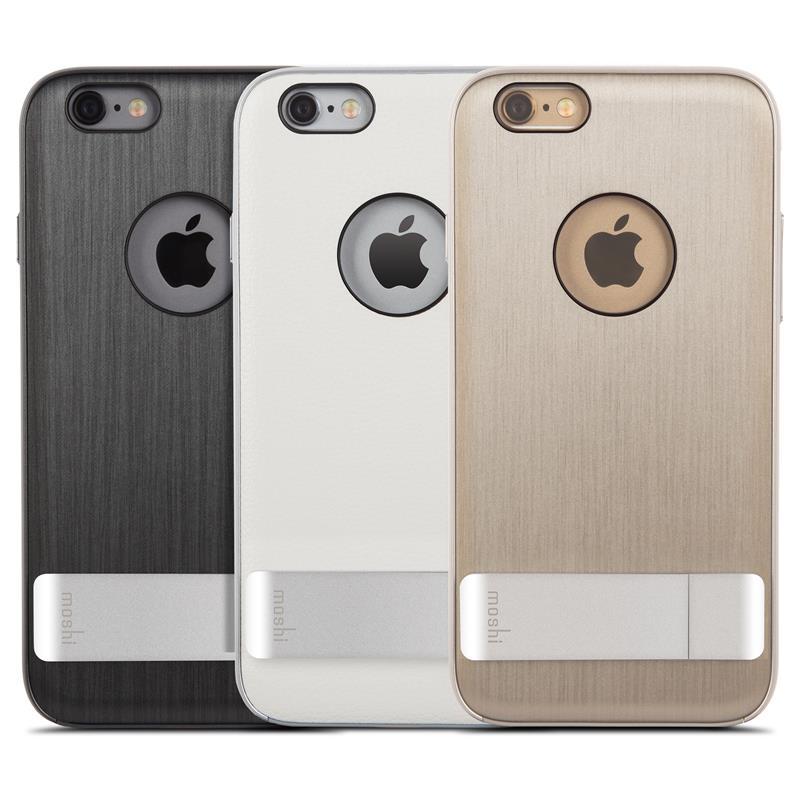 Moshi iGlaze Kameleon - Etui hardshell z podstawką iPhone 6s / iPhone 6 (Steel Black)