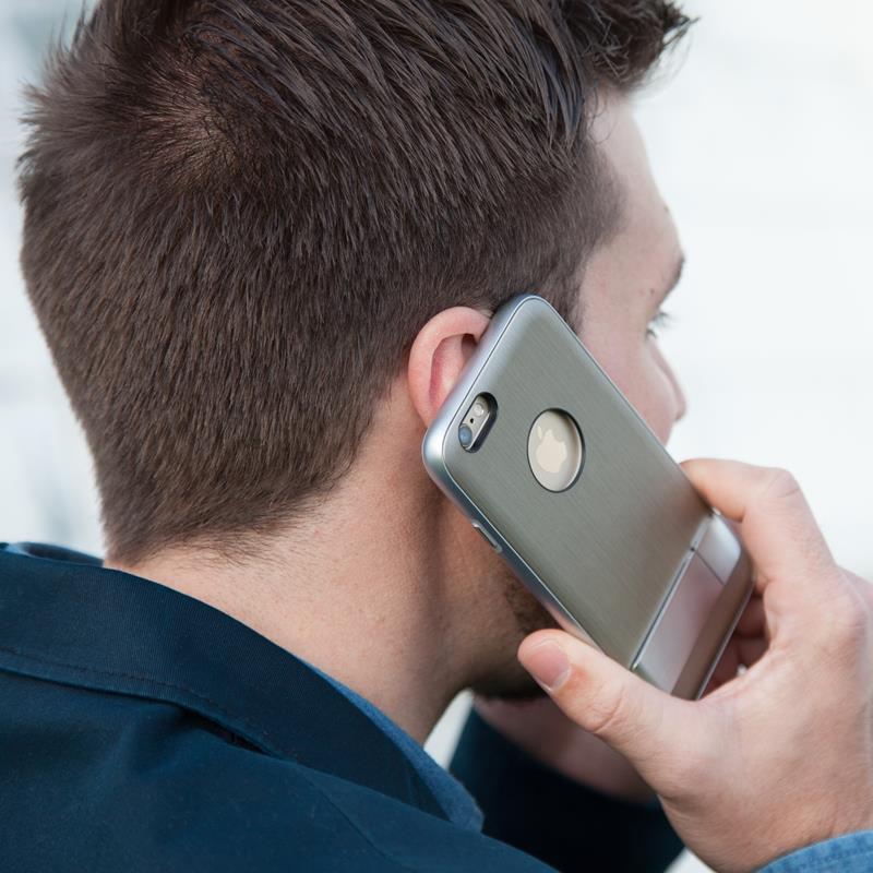 Moshi iGlaze Kameleon - Etui hardshell z podstawką iPhone 6s / iPhone 6 (Brushed Titanium)