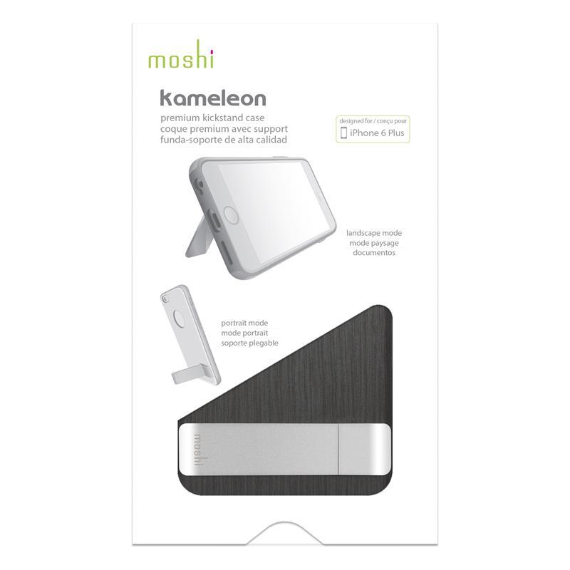 Moshi iGlaze Kameleon - Etui hardshell z podstawką iPhone 6s Plus / iPhone 6 Plus (Steel Black)
