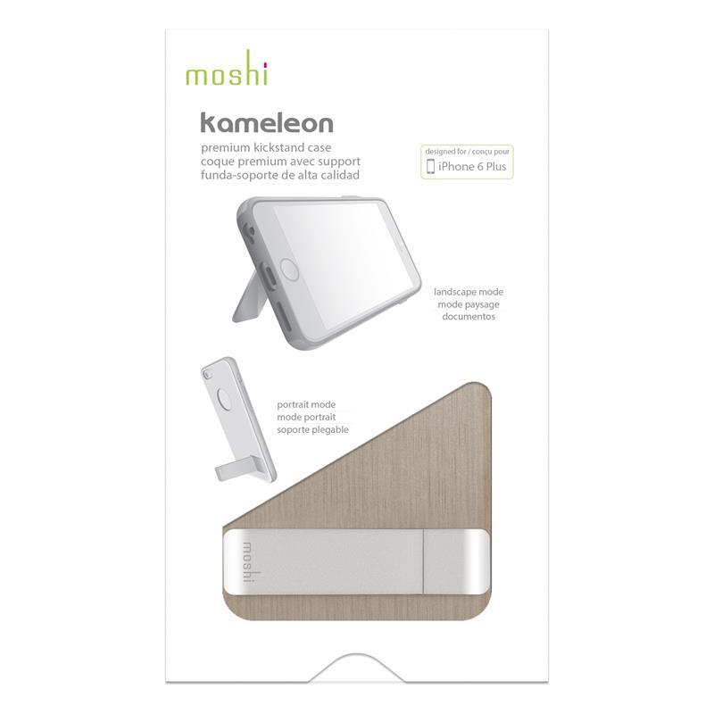 Moshi iGlaze Kameleon - Etui hardshell z podstawką iPhone 6s Plus / iPhone 6 Plus (Brushed Titanium)