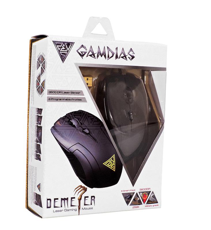 Gamdias Demeter Laser - Mysz dla graczy (3600 DPI)