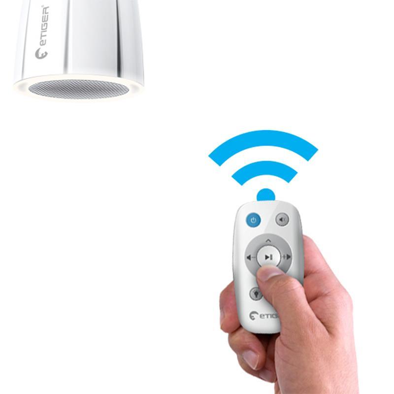 eTIGER Cosmic LED - Głośnik z żarówką LED + pilot (Bluetooth)