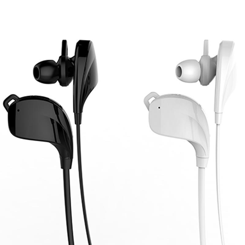 eTIGER Muse - Stereofoniczne słuchawki bezprzewodowe z mikrofonem (Bluetooth 4.0) (biały)