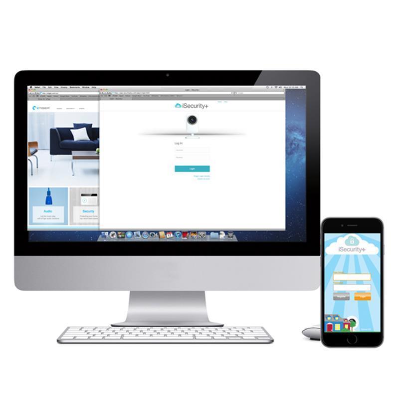 eTIGER S3b Sim Vid Secual - Bezprzewodowy system bezpieczeństwa z nadajnikiem GSM + Kamera HD (iOS/Android)