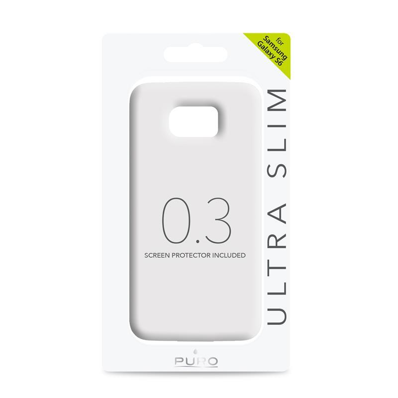 """PURO Ultra Slim """"0.3"""" Cover - Zestaw etui + folia na ekran Samsung Galaxy S6 (półprzezroczysty)"""