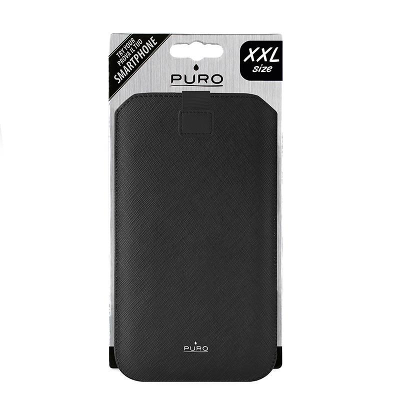 """PURO Essential Slim - Etui uniwersalne do smartfonów rozmiar XXL max 6.3"""" (czarny)"""