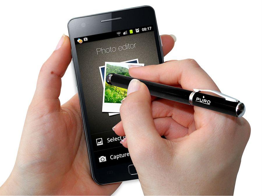 PURO Smartpen - Rysik dotykowy + długopis (czarny)