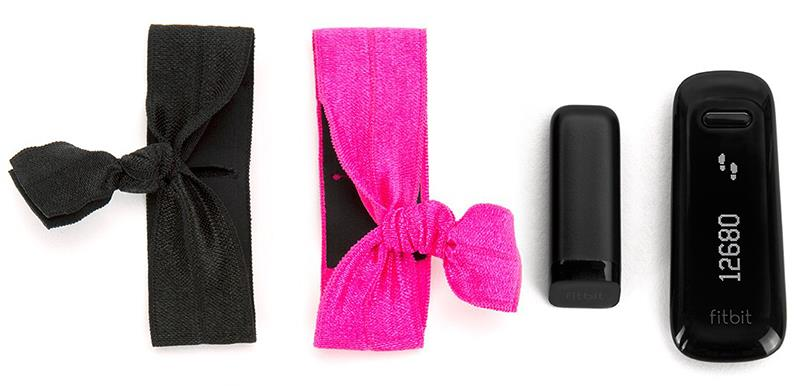 Griffin Ribbon Wristband - Opaski do Fitbit i Sony SmartBand (zestaw czarny i różowy)