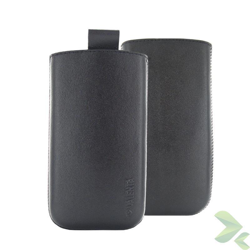 Valenta Pocket Classic - Skórzane etui wsuwka Samsung Galaxy S4/S III, HTC One i inne (czarny)