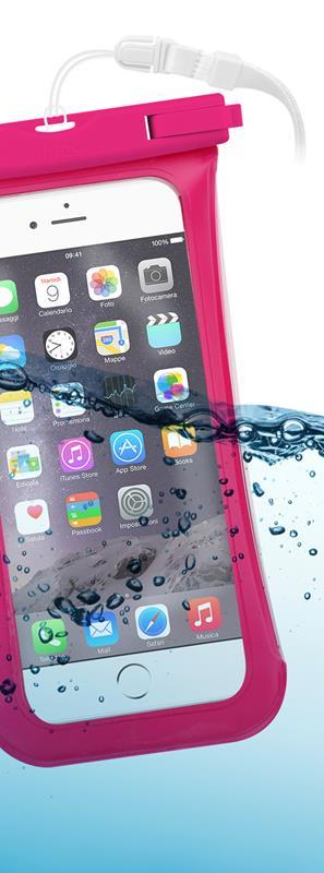 """PURO Nieprzemakalne etui smartphone/phablet max. 5.1"""" (różowy)"""